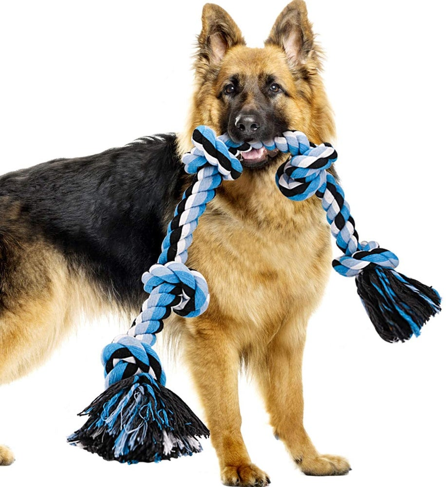 Image of Training K-9 Rope for Aggressive Chewers -Interactive, Indestructible, Heavy Duty