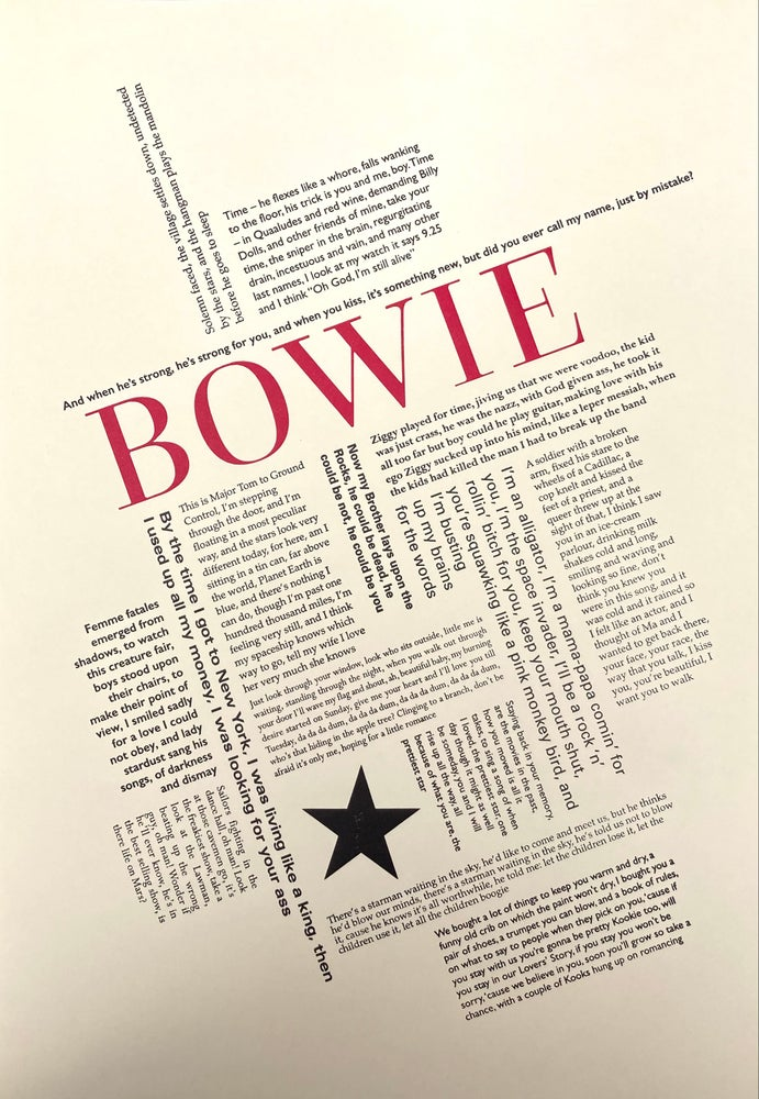 Image of Bowie deconstructed