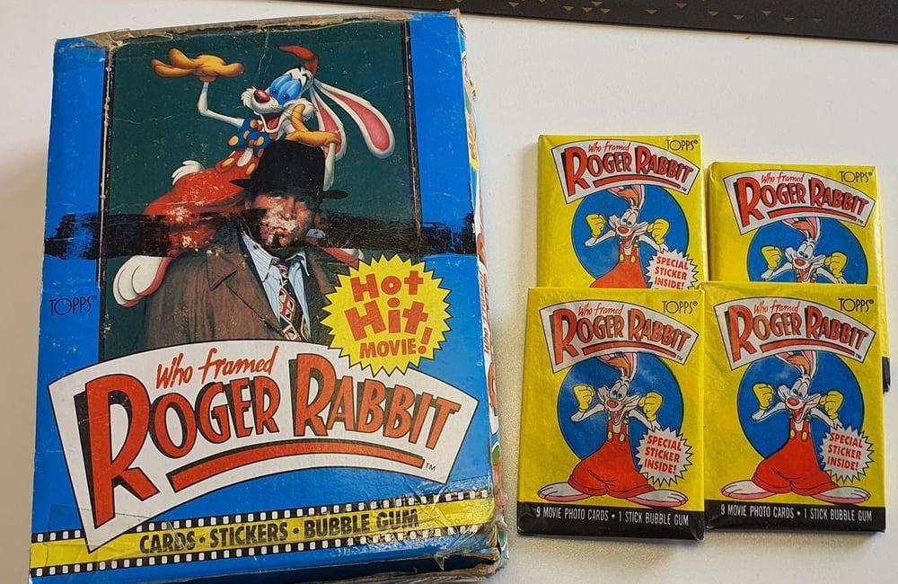 Image of Original 1988 Who framed Roger Rabbit wax packs