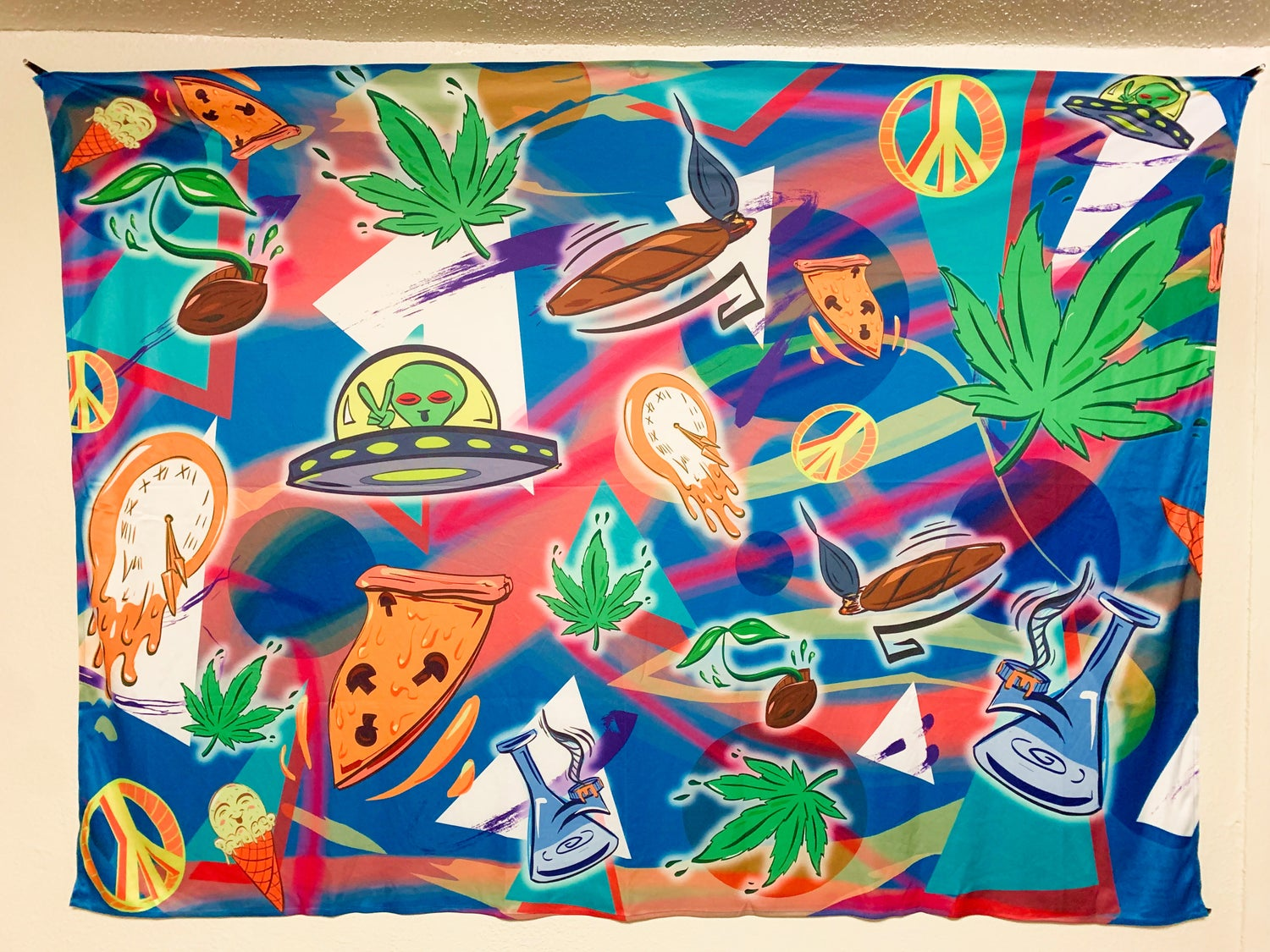 Completely Bonkers - Peace & Pizza Tapestry (LE 25)