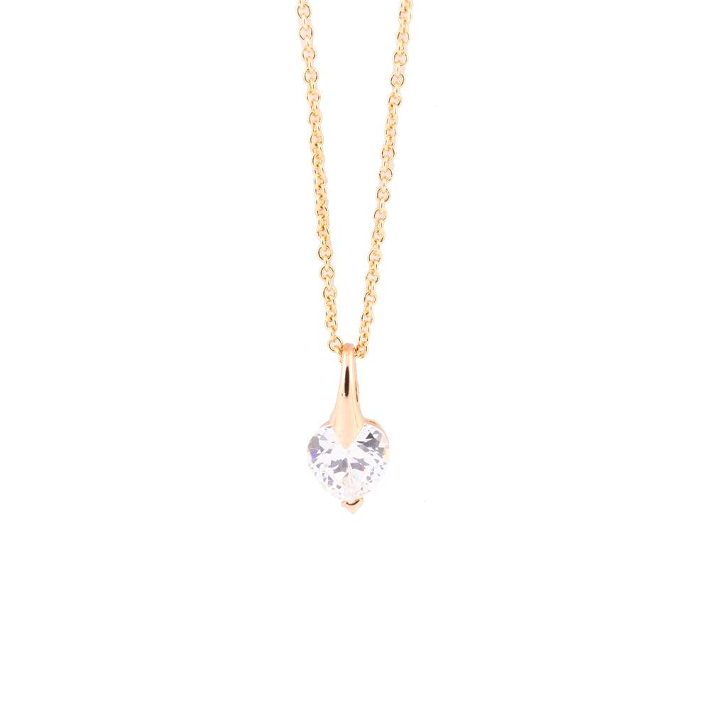 Image of DIAMOND HEART | NECKLACE