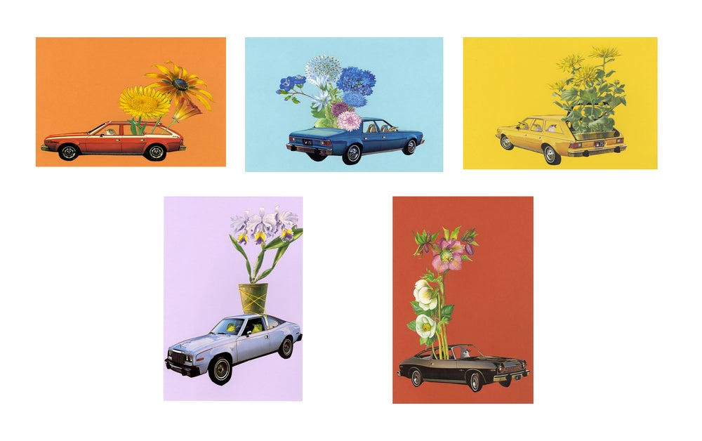 Image of 70s Flower Power note cards.