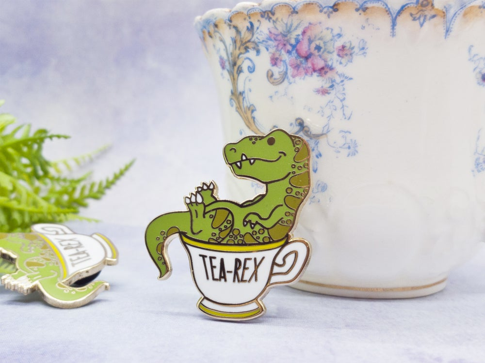 Tea Rex Hard Enamel Pin