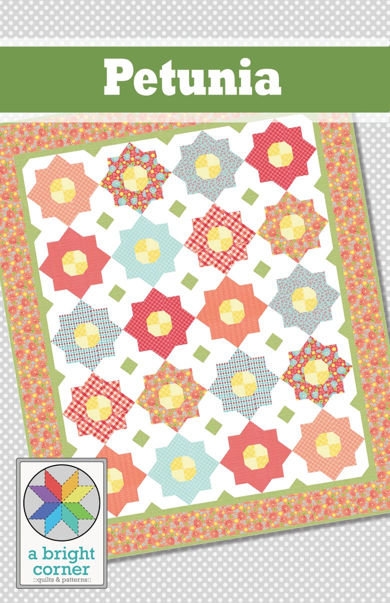 Image of Petunia Quilt Pattern - PAPER pattern