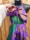 Bianca Frill Dress Purple Green
