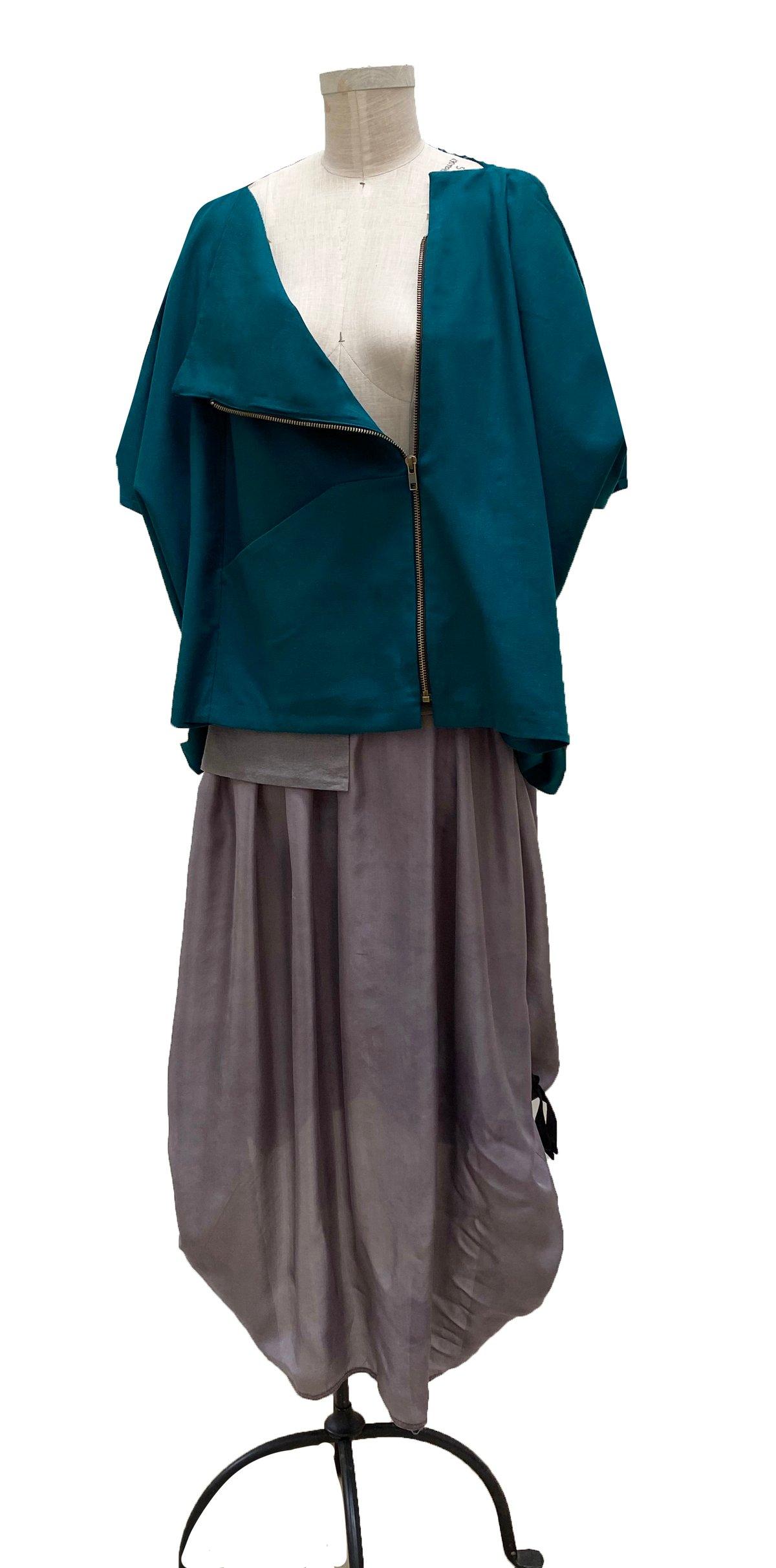 Image of beta kimono in teal