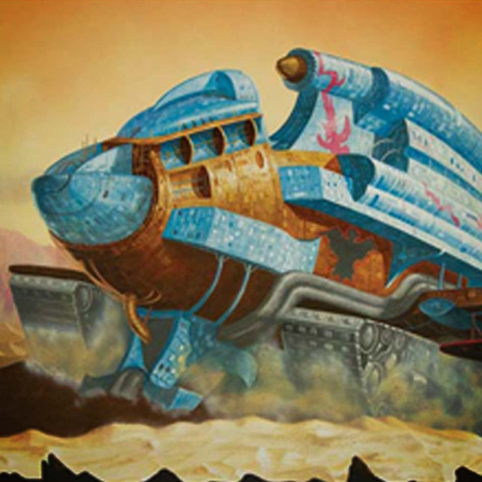 Image of Alien Landscapes (1) – Spice Factory from Dune A3 print