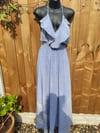 Bianca frill dress light blue