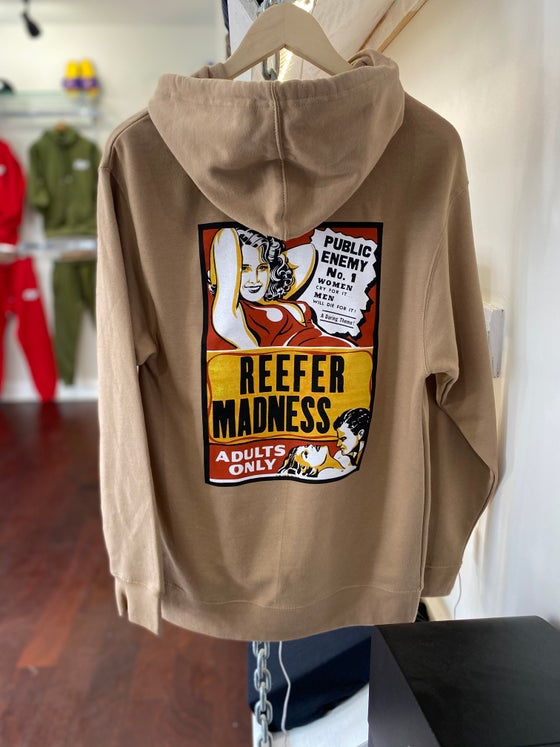 "Image of ""Reefer Madness"" Hoodie Tan"