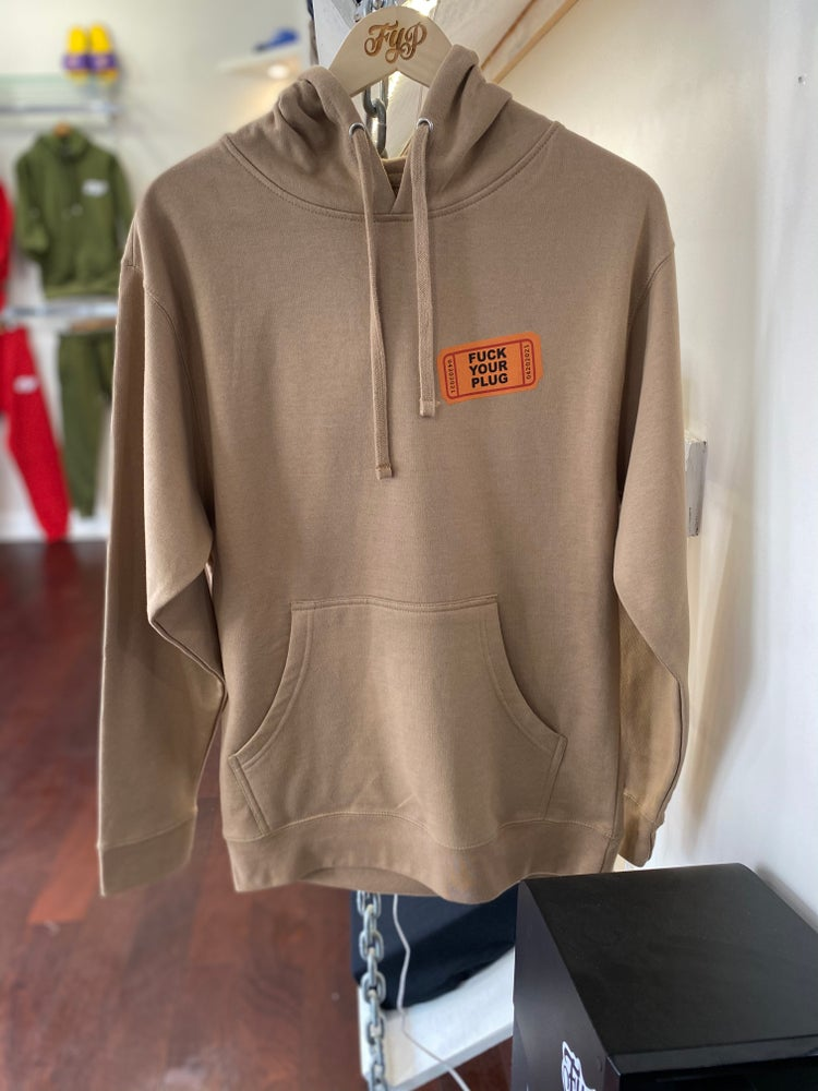 """Image of """"Reefer Madness"""" Hoodie Tan"""