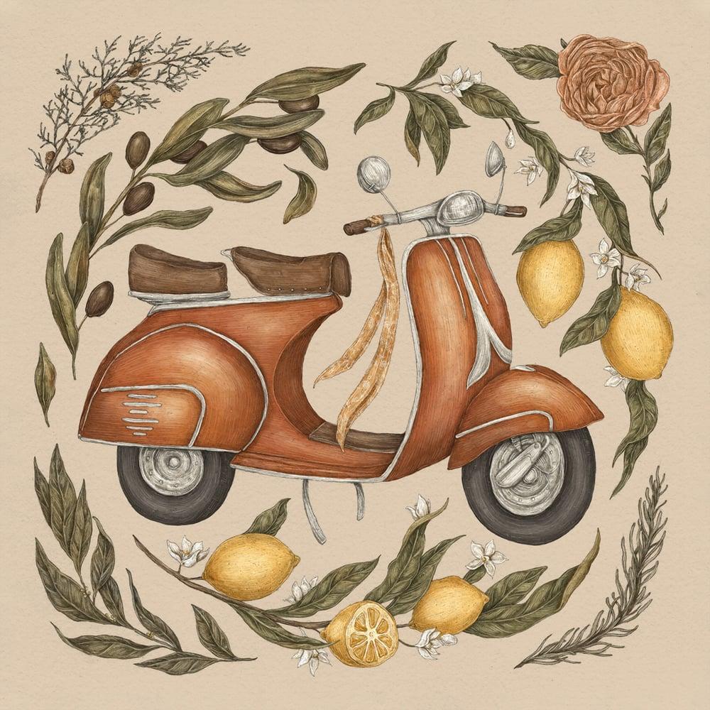 Image of Vespa Print