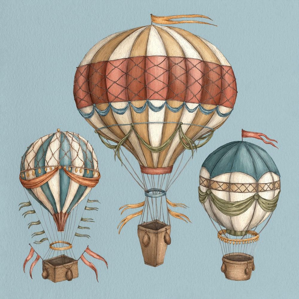 Image of Hot Air Balloons Print