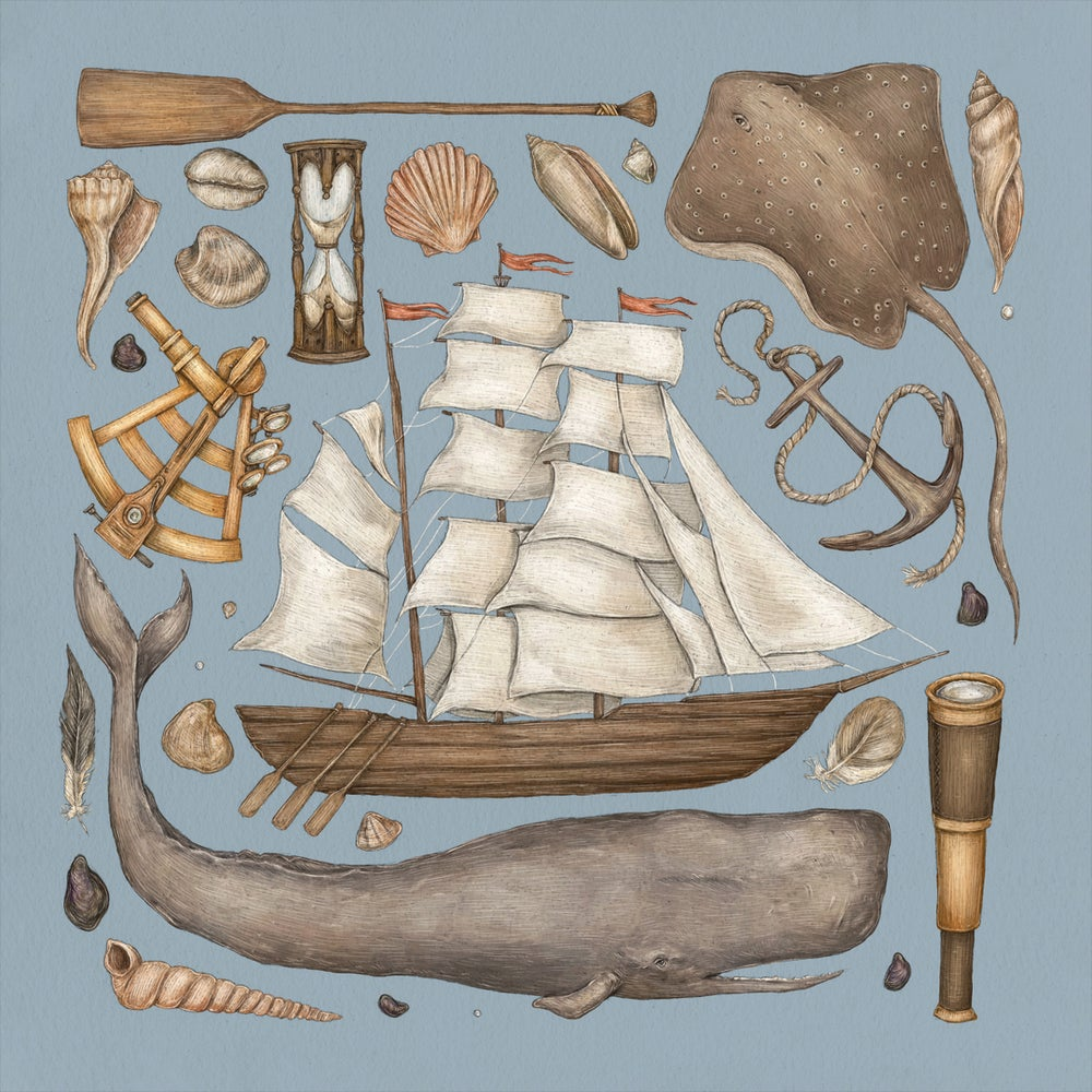 Image of A Voyage by Sea Print
