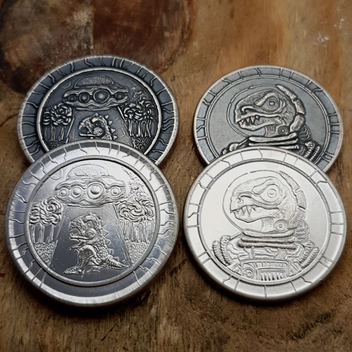 Dinosaucer Coin