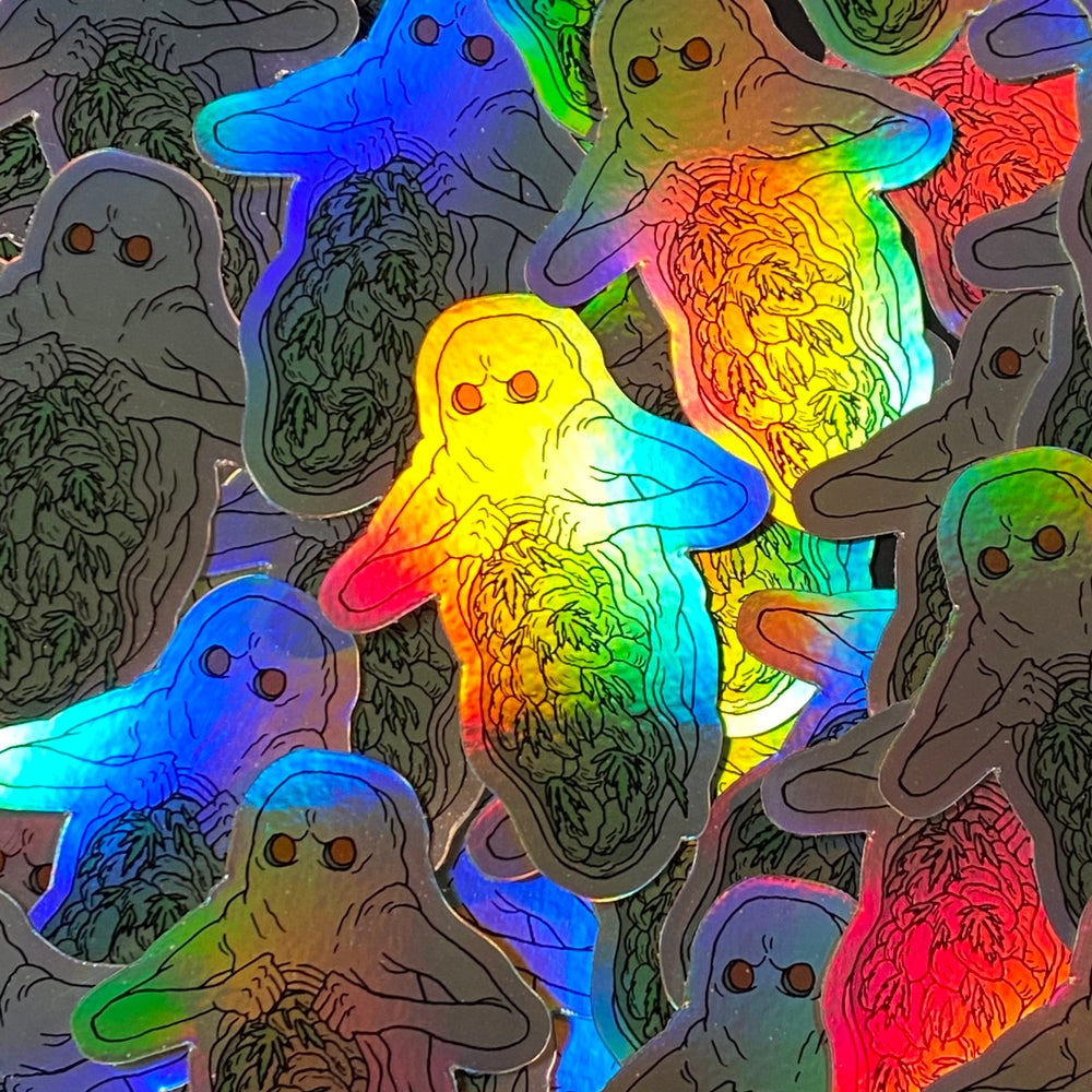Image of  Bud Ghost 420 Holographic Sticker