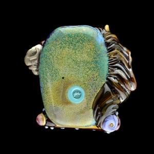Image of XXXL. Zephyr Carousel Horse - Flamework Glass Sculpture Bead