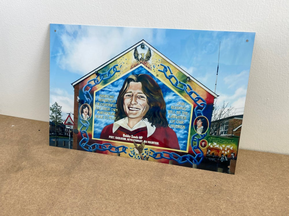 Bobby Sands A4 Metal Sign