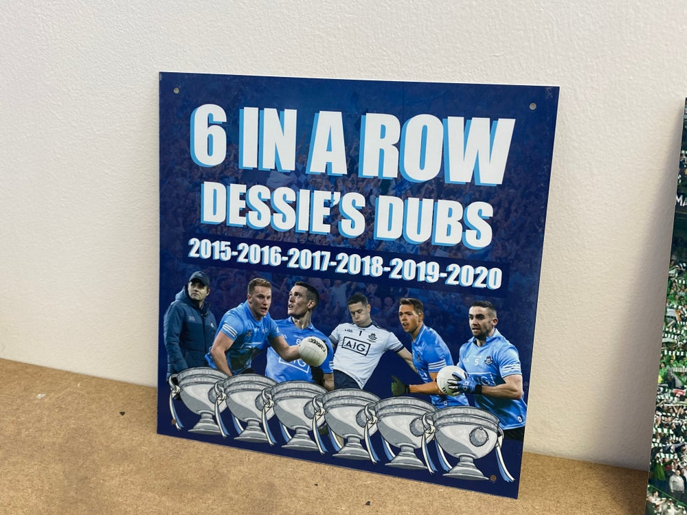6 In a Row 20x20cm Metal Sign