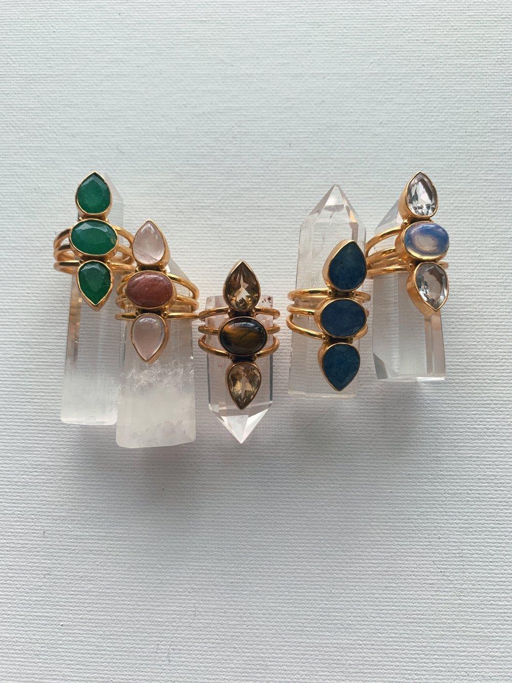 Image of REBELLE Crystal Rings
