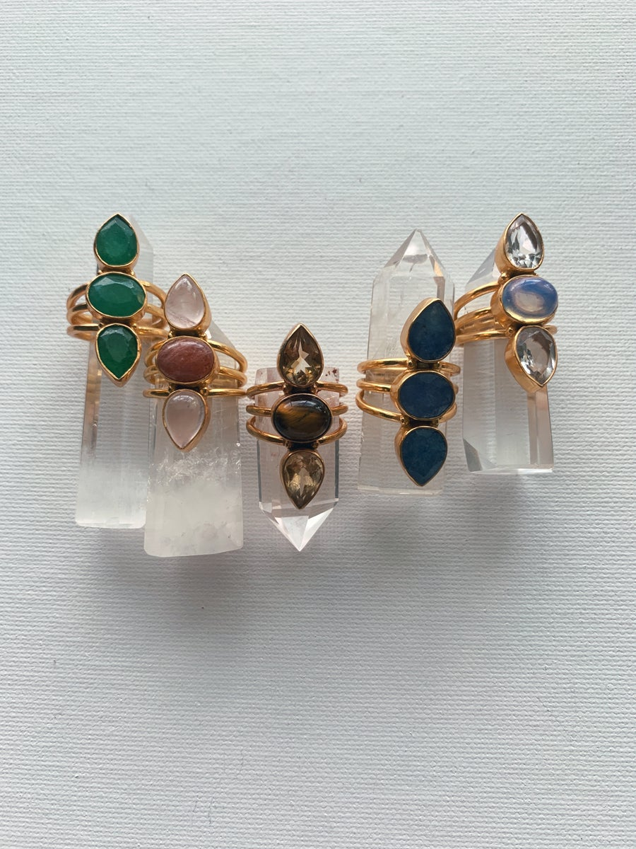 Image of REBELLE Crystal Rings