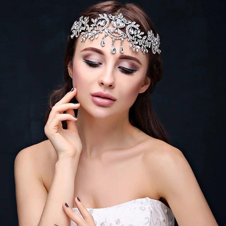 Image of Rayna crystal headpiece