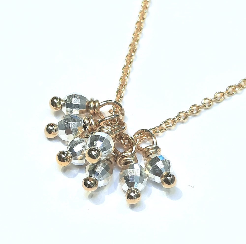 Image of Mixed Metal Cluster Necklace