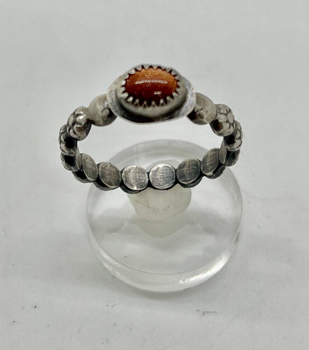 Image of Sunstone Stacker Ring size 8.25