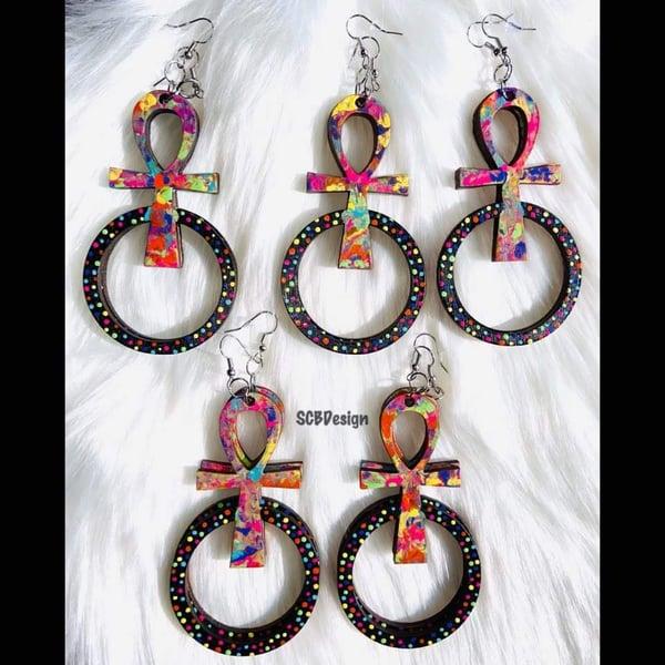 Image of Ankh Ear rings