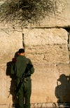 Soldier at the Kotel