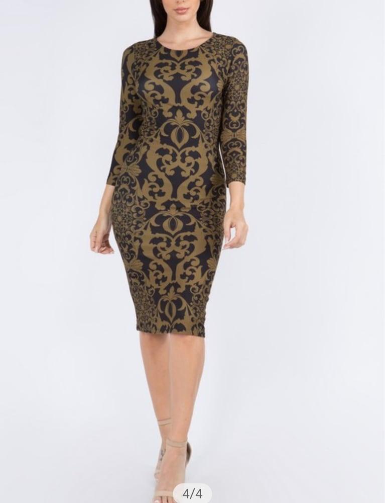 Image of Swirl Midi Dress