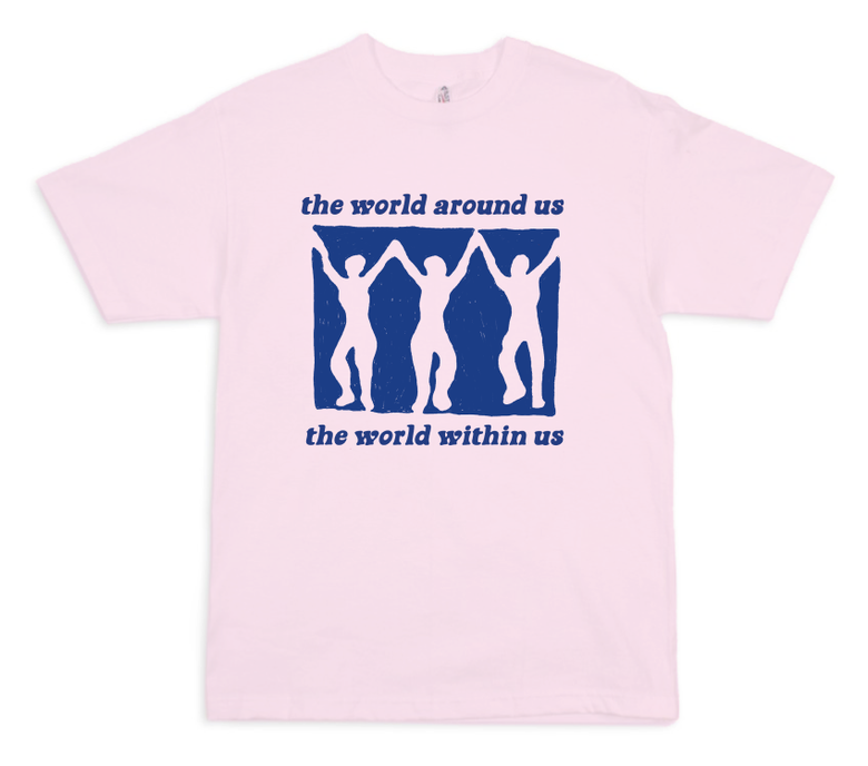 Image of The World T-shirt ☺ pink ☺
