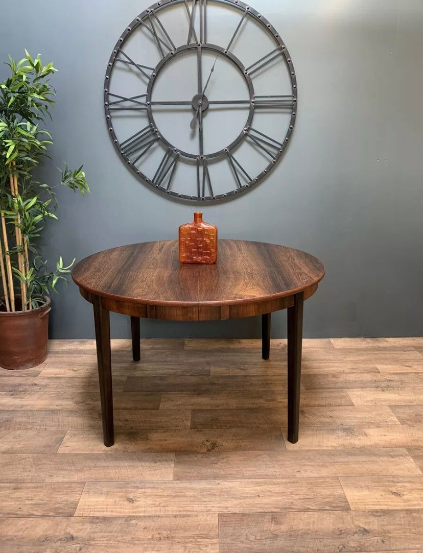 Image of Mid Century Retro Rosewood Danish Dining Table
