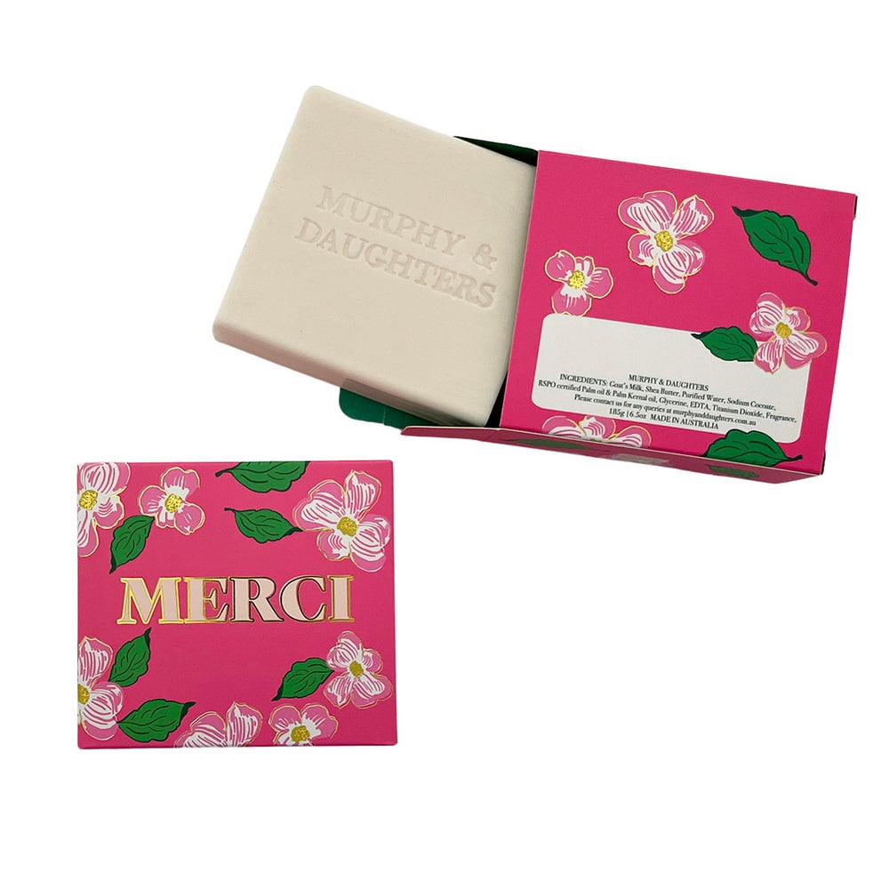 Image of Message on a soap - gift box of 4 - -especially for mumma with love, XXX