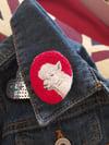 Alpaca Hand Embroidered Brooch