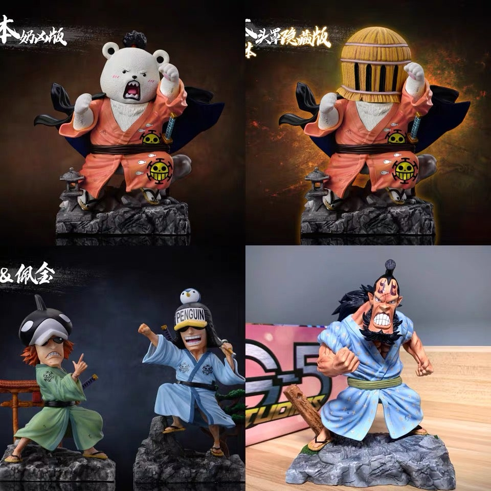 Image of  [Last-Stock]One Piece G5 Studio Heart Pirates Crew Set Resin Statue