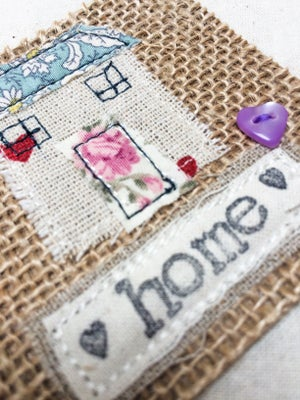 Image of Cute new home gift with applique house