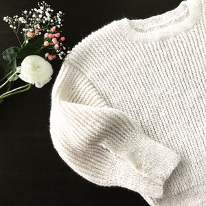 Image of -- PATRON : White Chalk Sweater --