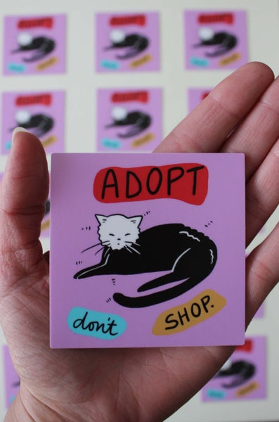 Image of Adopt Don't Shop Sticker