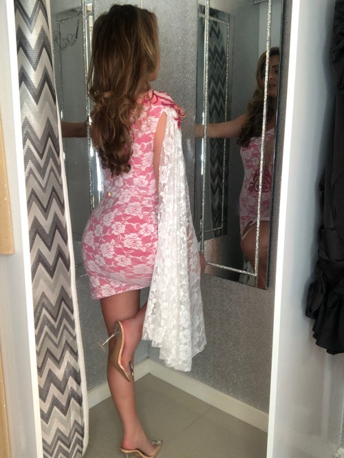 Image of Lace Wing Sleeve Dress