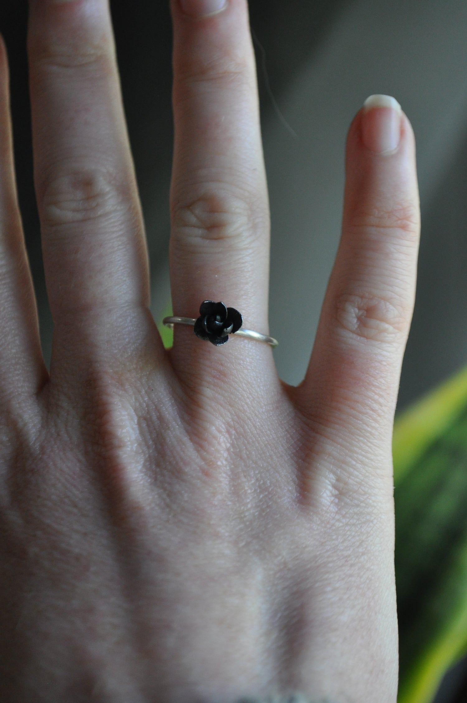 Image of One of a Kind Succulent Ring - Tiny Bud in Sterling Silver