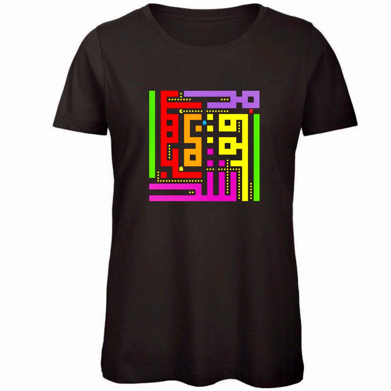 Image of Woman t-shirt - Pacman calligraffiti