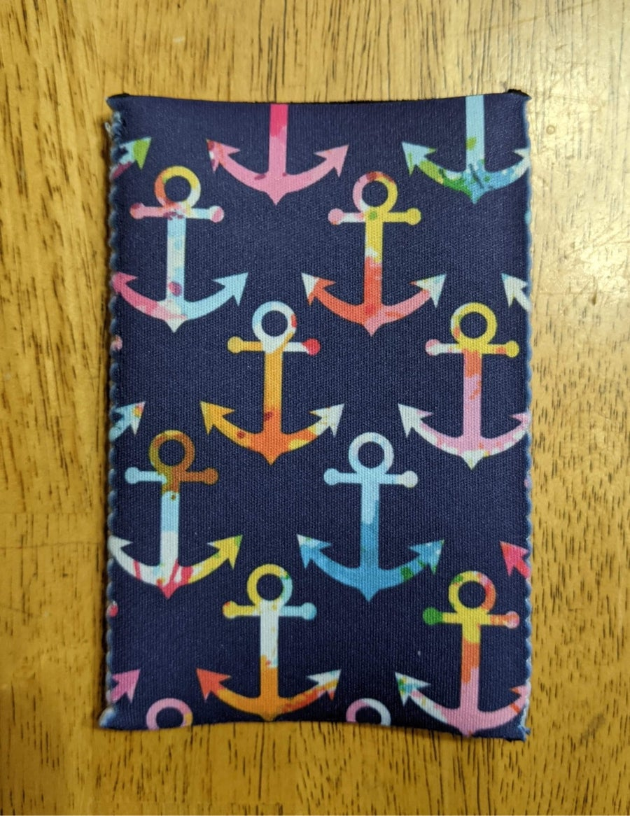 Image of Colorful Anchors -Koozie
