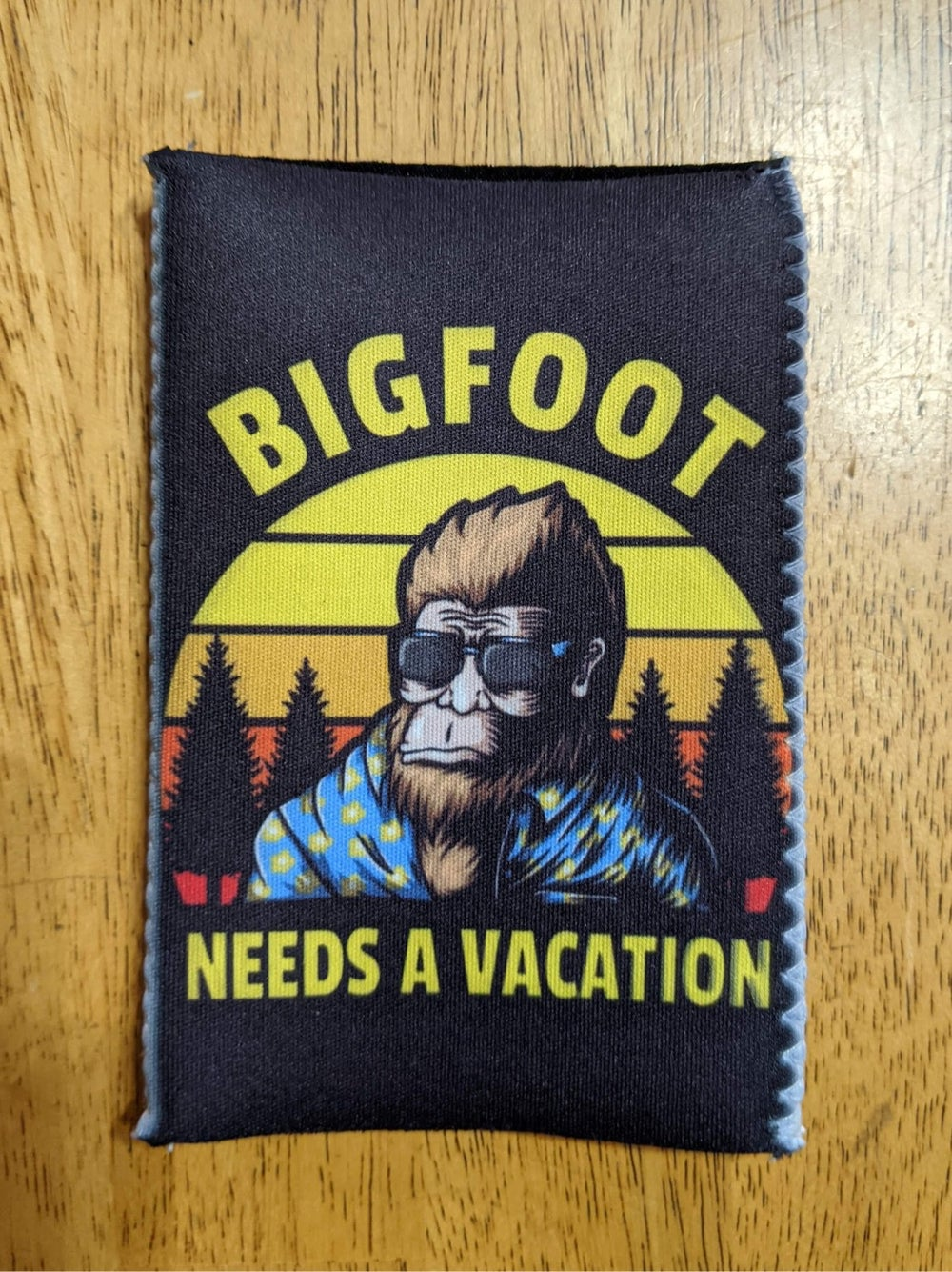 Image of Bigfoot Needs a Vacation-Koozie