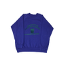 contraband collegiate crewneck green on purple