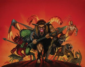 Image of Fighting Fantasy 10th Anniversary Yearbook A3 print