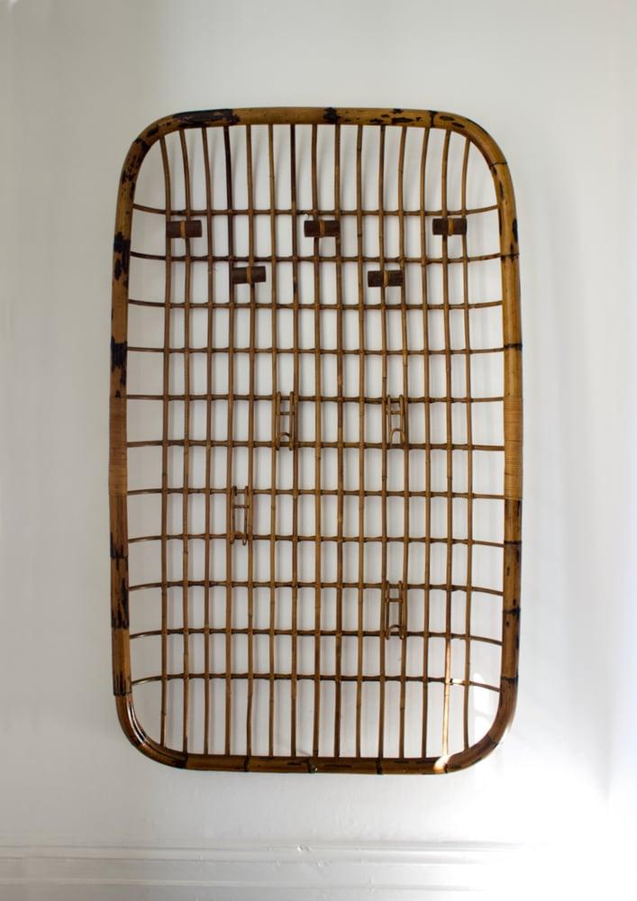 Image of Large Bamboo Coat Rack, Mid-20th Century Italian