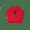 contraband collegiate crewneck black on red