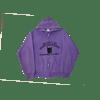 contraband collegiate hoodie black on purple