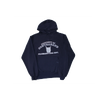 contraband collegiate hoodie white on navy blue