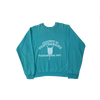 contraband collegiate crewneck white on aqua